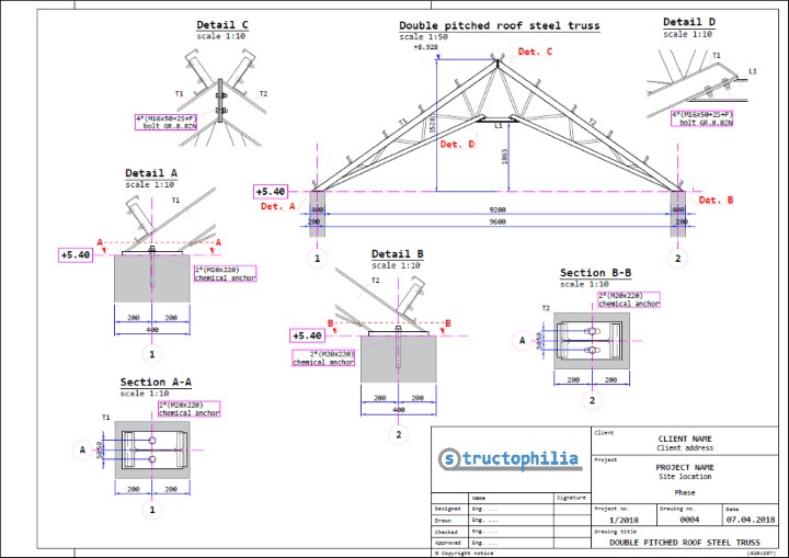 Double Pitched Roof Steel Truss Structophilia