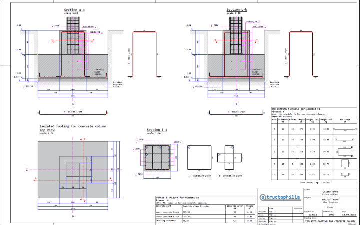 Isolated Footing For Concrete Column Structophilia